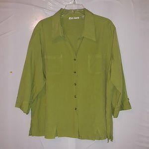 Women's Dress Barn button up top size 2X